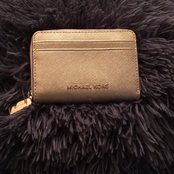 MICHAEL Michael Kors Handbags - A Gold Michael Kors ZIP Around Wallet